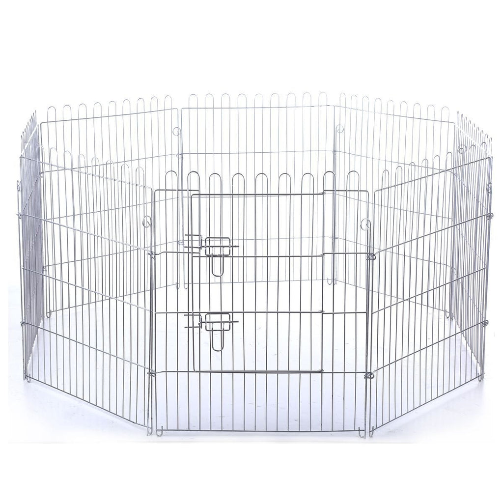 Enclosed Metal Dog Cat Crate Foldable Pet Dog Puppy Cat Enclosure with Green Cover 8 PanelAfterpay ZipPay Australia Melbourne Sydney Adelaide Gold Coast