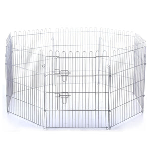 Eight Panel Pet Enclosure with Green Cover