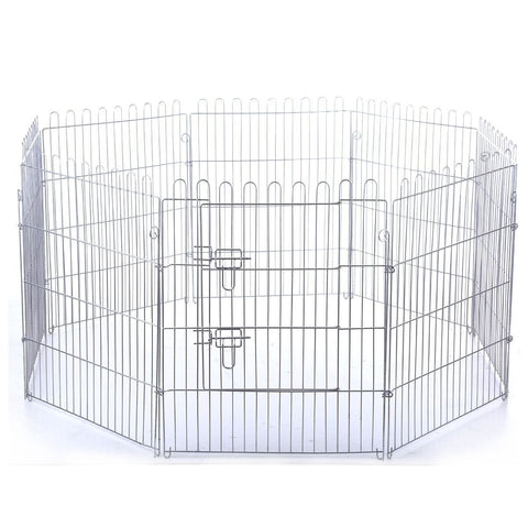 Image of Enclosed Metal Dog Cat Crate Foldable Pet Dog Puppy Cat Enclosure with Green Cover 8 PanelAfterpay ZipPay Australia Melbourne Sydney Adelaide Gold Coast