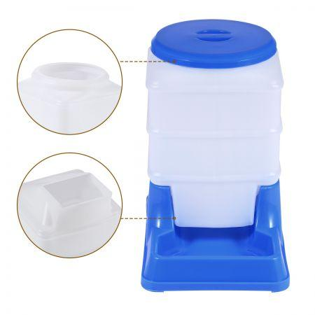 Image of 2 Auto Dog Cat Bird Rabbit Guinea Pigs Feeder & Water Dispenser Set - Blue