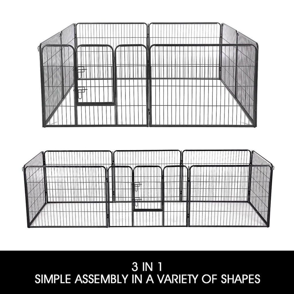 8-Panel Pet Playpen Dog Cat Enclosure 3 in 1 Simple Assembly in A Variety of Shapes Everyday Pets