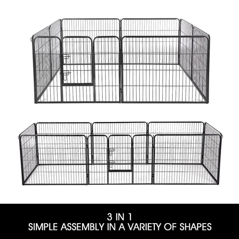 Image of 8-Panel Pet Playpen Dog Cat Enclosure 3 in 1 Simple Assembly in A Variety of Shapes Everyday Pets