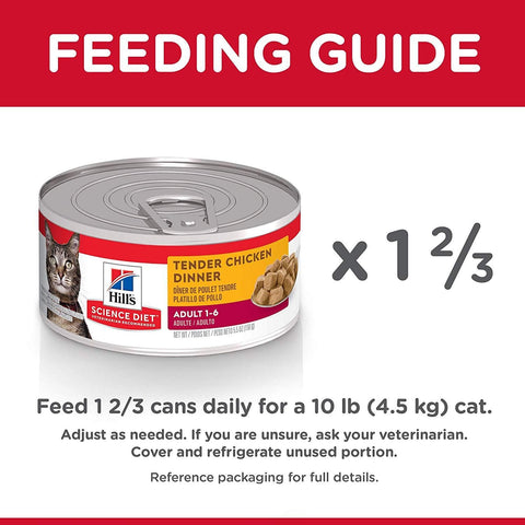 Image of Hill's Science Diet Adult Cat Tender Dinners Chicken Cat Food Tray 24 x 156g Everyday Pets