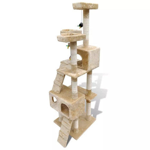 Image of Cat Tree Cat Scratching Post 170 cm 2 Condos