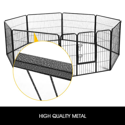 Image of 8-Panel Pet Playpen Dog Cat Enclosure High Quality Metal Iron Wire and Powder Coated Tube Everyday Pets