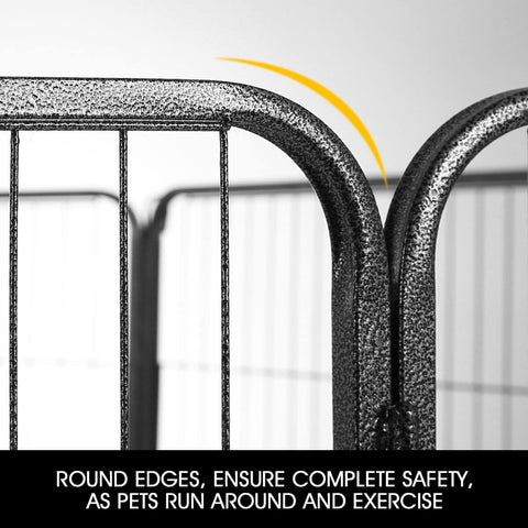 Image of 8-Panel Pet Playpen Dog Cat Enclosure Round Edges For Safety Everyday Pets