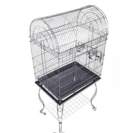 Sturdy Bird Cage Elegant Lacework Style Bird Aviary Wrought Iron Parrot Cage 81cm x 65cm x 11cm