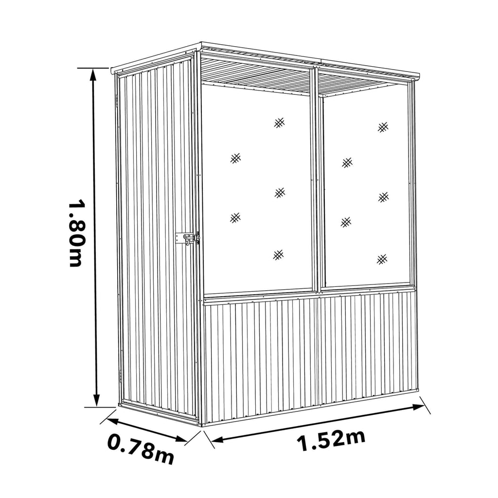 Absco Chicken Coop 1.52mL x 0.78mW x 1.80mH Dimensions