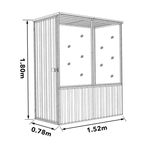 Image of Absco Chicken Coop 1.52mL x 0.78mW x 1.80mH Dimensions