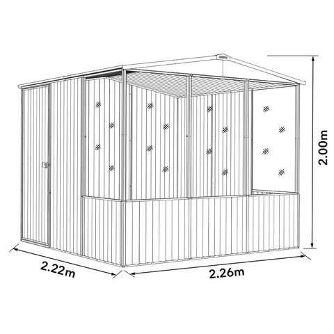 Image of Absco Chicken Coop 2.26mL x 2.22mW x 2.00mH Dimensions