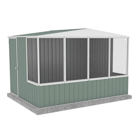 Absco Chicken Coop 3.00mL x 2.22mW x 2.06mH Pale Eucalypt