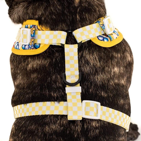 Image of Big-Little-Dogs-Adjustable-Dog-Harness-Rubber-Ducky-Close-Up-Back