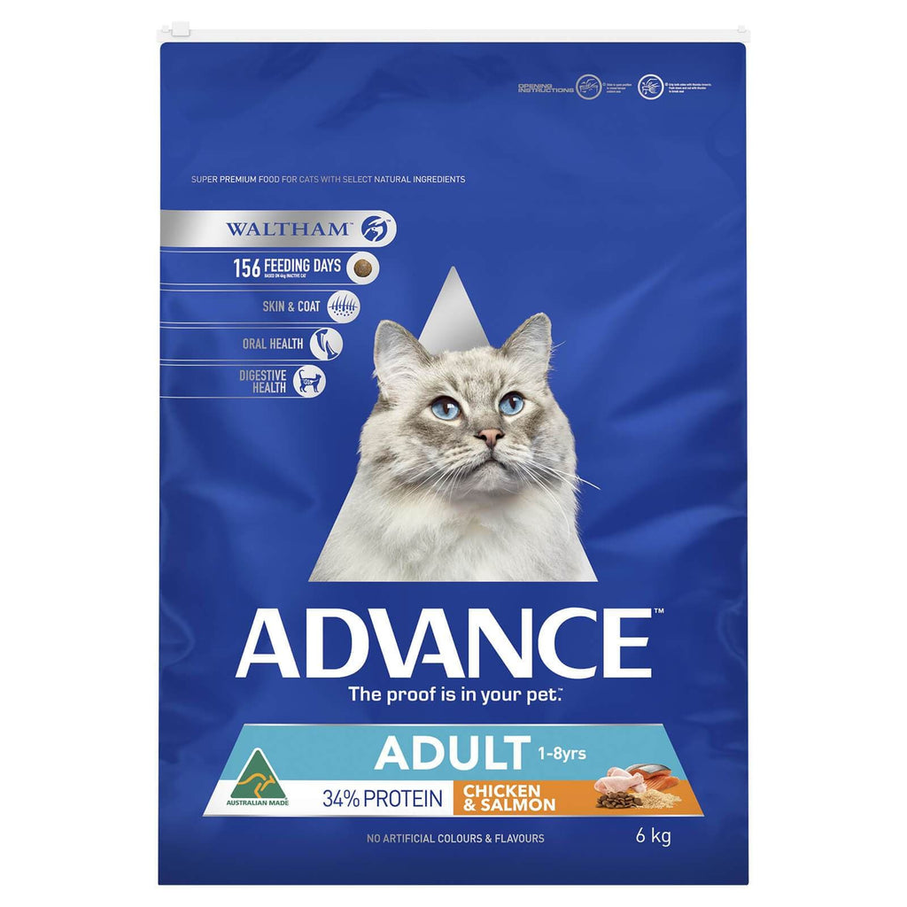 Advance Adult Cat Total Wellbeing Dry Cat Food Chicken & Salmon 6kg