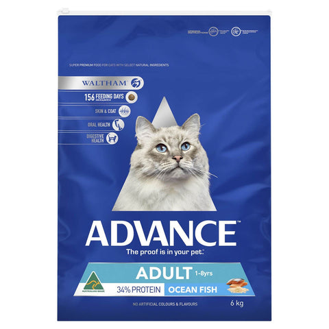 Image of Advance Adult Cat Total Wellbeing Dry Cat Food Ocean Fish 6kg