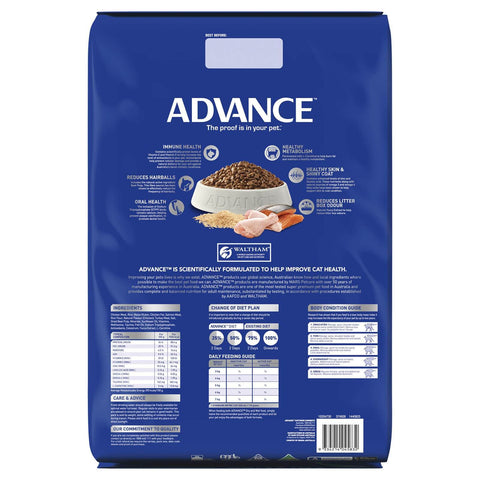Image of Advance Adult Multi Cat Dry Cat Food Chicken & Salmon 20kg Back Part