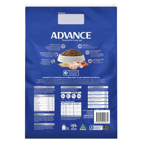Image of Advance Adult Multi Cat Dry Cat Food Chicken & Salmon 6kg  Back Part