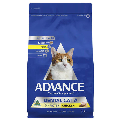 Image of Advance Dental Chicken Adult Dry Cat Food 2kg