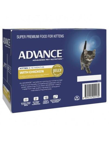 Image of Advance Kitten Pouch Chicken in Jelly 12 x 85gm Back Part