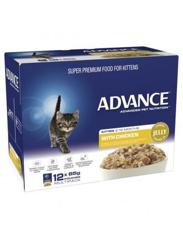 Image of Advance Kitten Pouch Chicken in Jelly 12 x 85gm