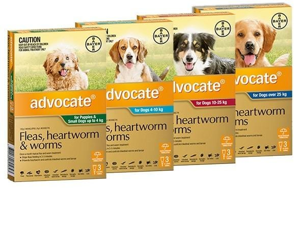 Advocate Dog All In One Flea And Parasite Treatment - Tubes