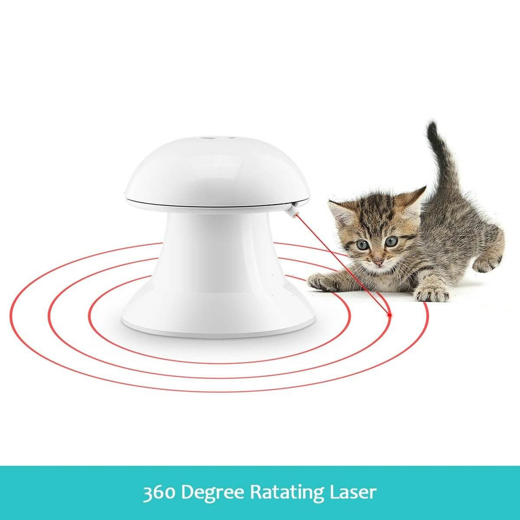 Automatic Dart Cat Laser Toy Interactive Pointer Light Pet Training Teaser Chase Toy 360° Rotating Laser