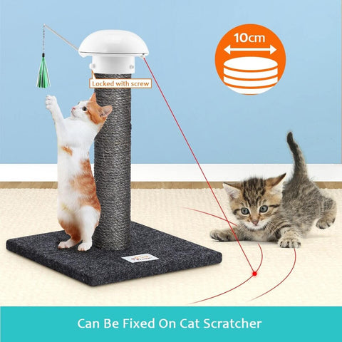 Image of Automatic Dart Cat Laser Toy Interactive Pointer Light Pet Training Teaser Chase Toy On Cat Scratcher