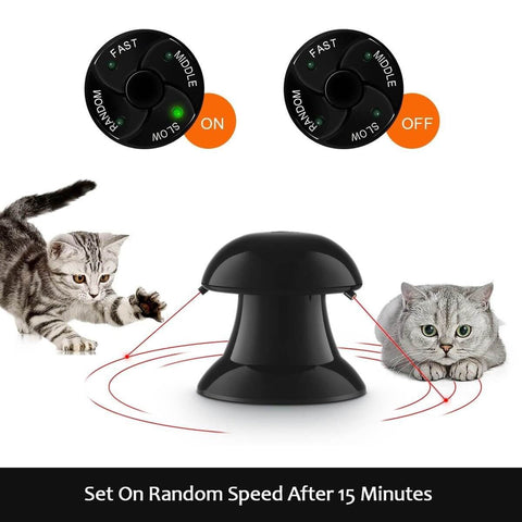 Image of Automatic Dart Cat Laser Toy Interactive Pointer Light Pet Training Teaser Chase Toy  Speed Setting