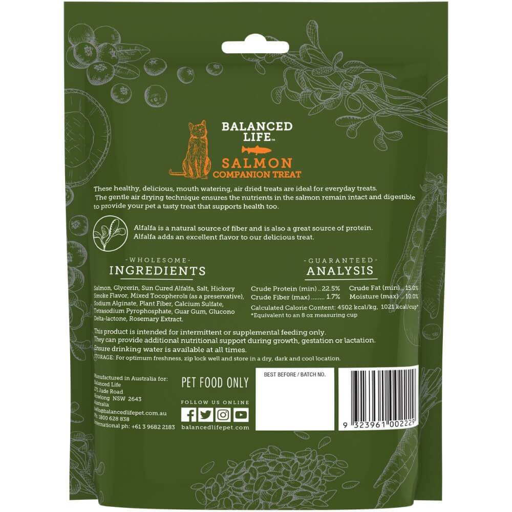 Balanced Life Companion Treats Cat Dry Food Salmon Recipe 85g Back
