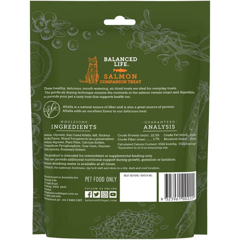 Image of Balanced Life Companion Treats Cat Dry Food Salmon Recipe 85g Back
