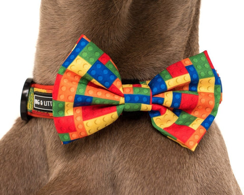 Image of Big-and-Little-Dogs-Collar-and-Bow-Tie-Blocktastic-Close-Up