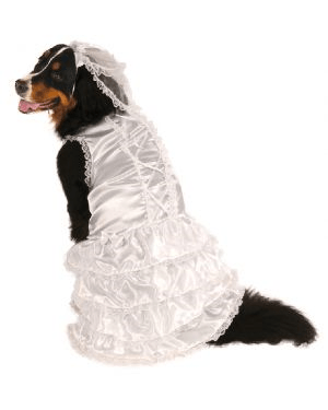 Big Dog Bride Pet Costume