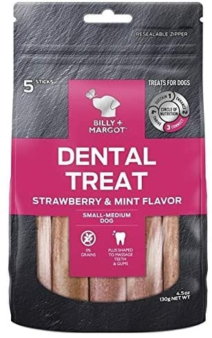 Billy + Margot Strawberry Flavour Dental Treat Small