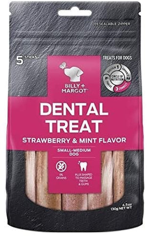 Image of Billy + Margot Strawberry Flavour Dental Treat Small
