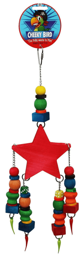 Cheeky Bird Wooden Star Toy