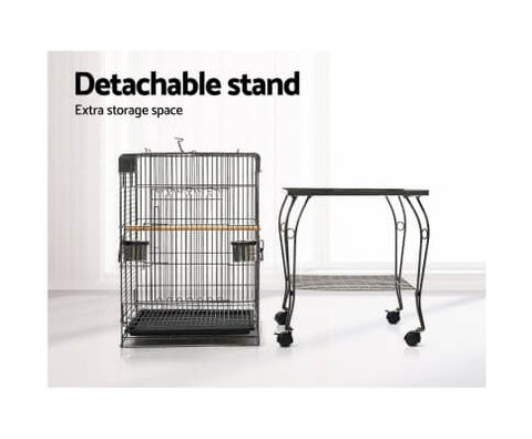 Image of Bird Cage Aviary Detachable Stand