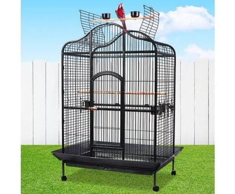 Bird Cage Heavy Duty Anti-Rust Bird Aviary Wrought Iron Vein Powder Coated Frame Budgie Cage - 183cm