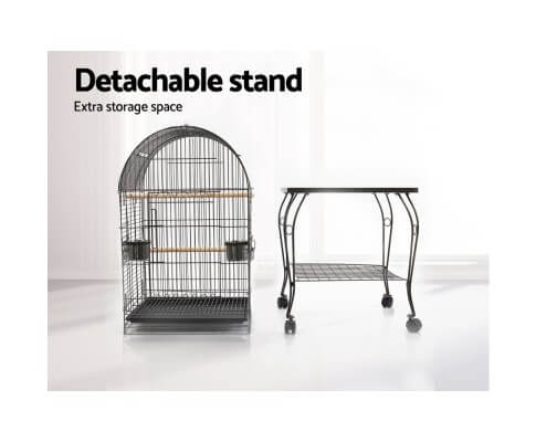 Bird Cage with Detachable Stand