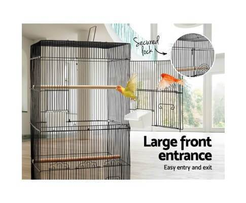 Bird Cage with Large Front Entrance