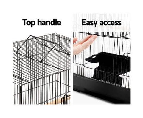 Bird Cage with Lift Up Gates and Top Handle
