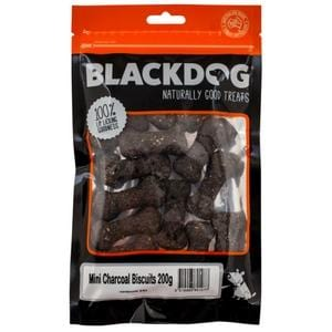 Black Dog Oven Baked Mini Biscuits Charcoal 200g