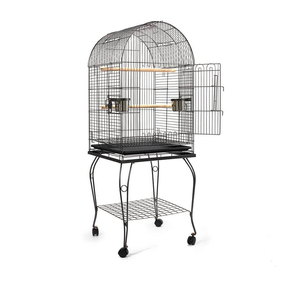 Black Dome Parrot Bird Cage with Large Access Door
