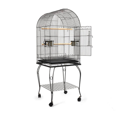 Image of Black Dome Parrot Bird Cage with Large Access Door