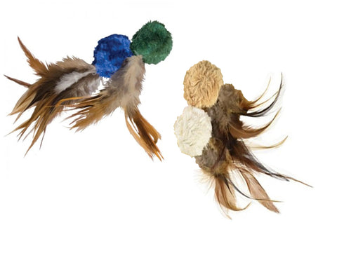 Image of KONG Naturals Crinkle Ball w/ Feathers