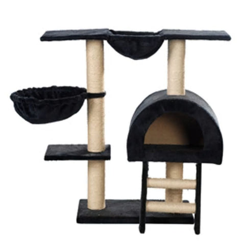 Image of Cat-Tree-105-cm-Dark-Blue-2-Scratching-Posts-Front-View