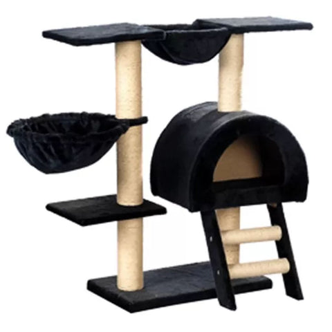 Image of Cat-Tree-105-cm-Dark-Blue-2-Scratching-Posts-Side-View
