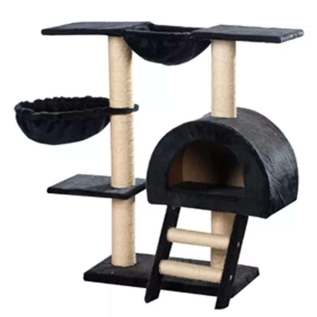 Cat-Tree-105-cm-Dark-Blue-2-Scratching-Posts-Sisal-Cover