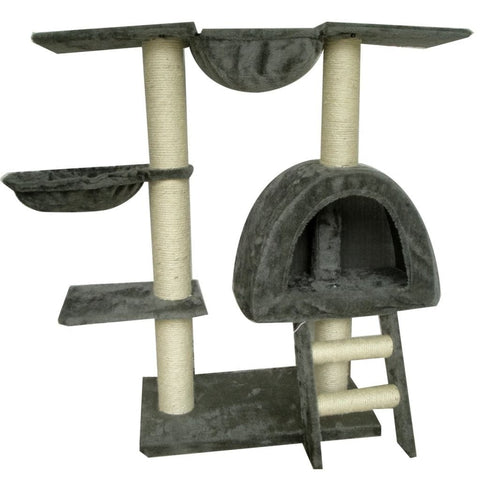 Image of Cat-Tree-105-cm-Grey-2-Scratching-Posts-Front-View