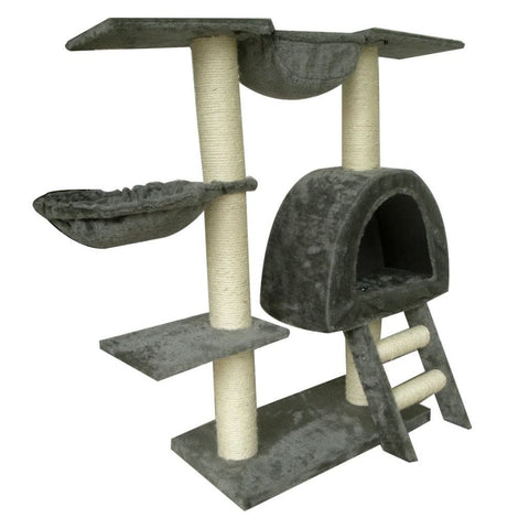 Image of Cat-Tree-105-cm-Grey-2-Scratching-Posts-Sisal-Cover