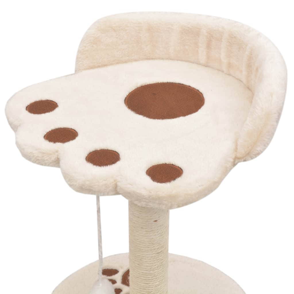 Cat-Tree-with-Sisal-Scratching-Post-40-cm-Beige-and-Brown-Platform