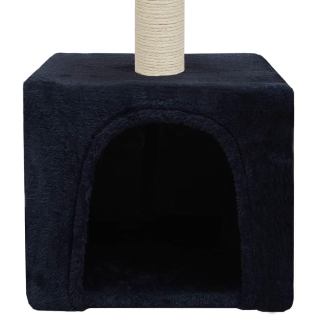 Cat-Tree-with-Sisal-Scratching-Post-55-cm-Dark-Blue-Cat-Cave